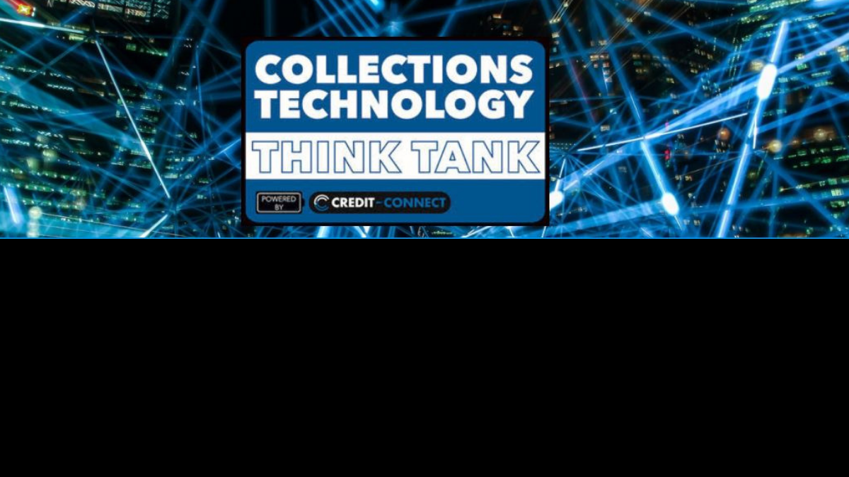 Online Collections Technology Think Tank logo laser lights background