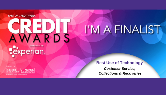 Credit Awards Finalists Logo for Webio Best Use of Technology 2020