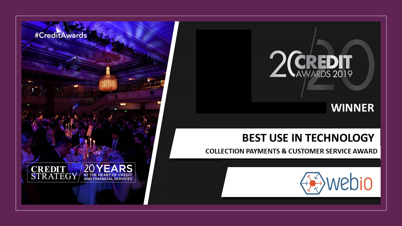 Image of Credit Strategy Award Winner Webio for  Best Use of Technology in Collections Payments Recoveries and Customer Service Awards Image