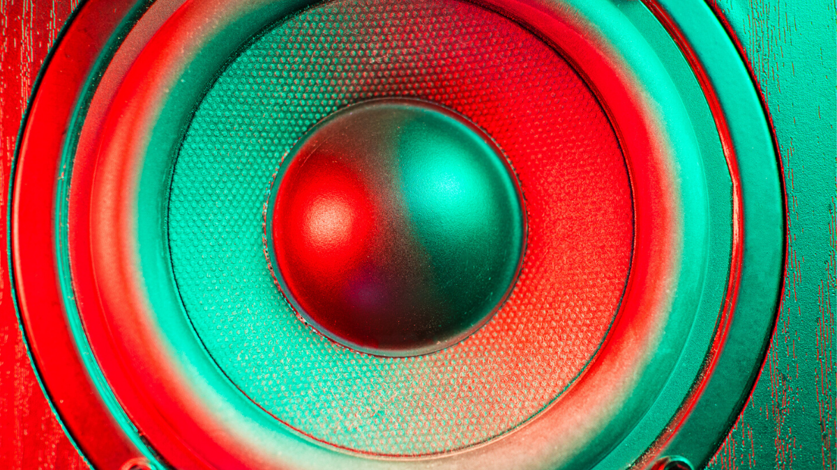 Speaker coloured green and red