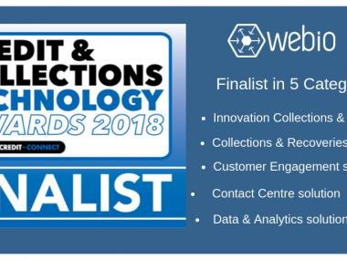 Webio Finalist in the 2018 Credit & Collections Technology Awards