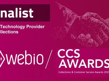 Webio Finalist for Best Provider in Collections  at the 2019 Collections & Customer Service  Awards