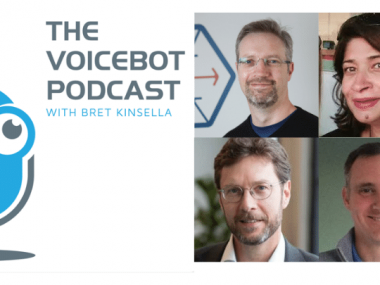 Voicebot Podcast Panel Paul Sweeney from Webio, Tom Hebner,